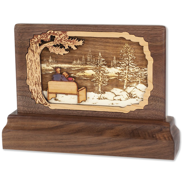 Lakeside 3D Walnut Keepsake