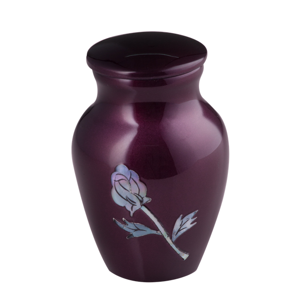 Purple Mother of Pearl Rose Keepsake
