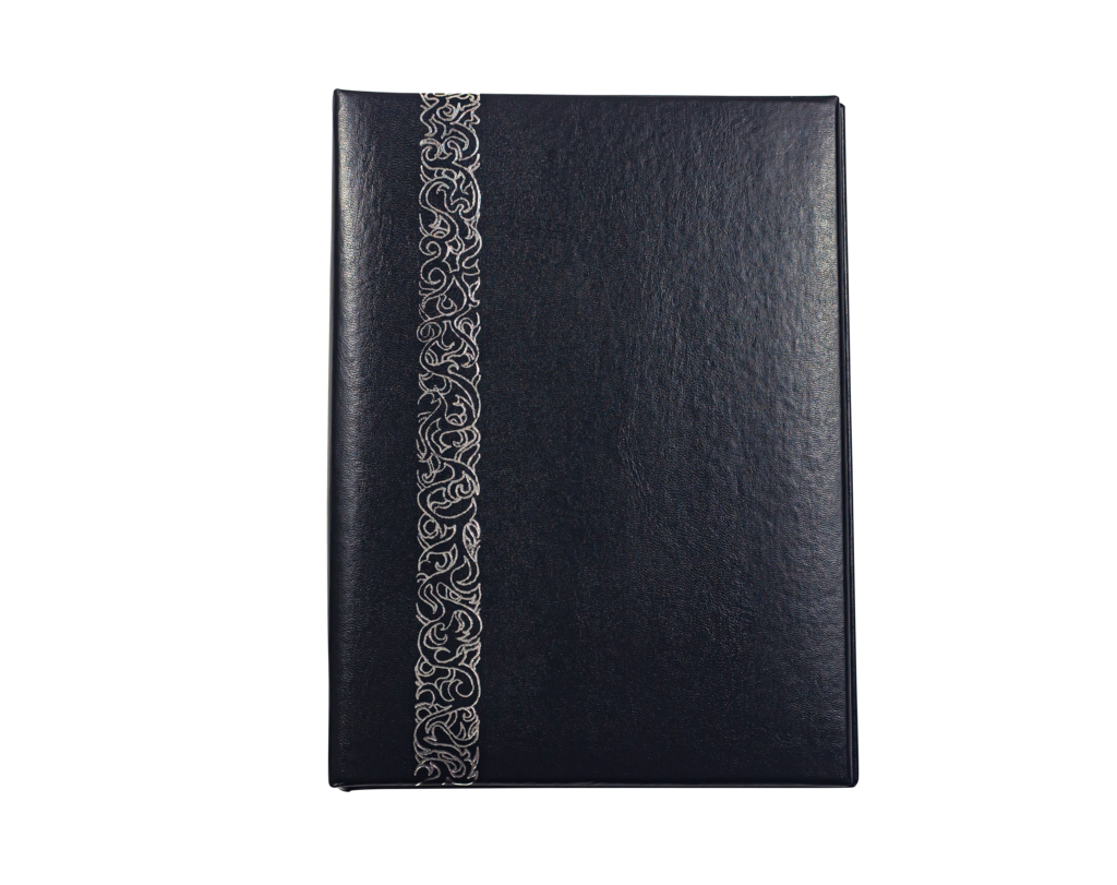 Black with Silver Foil Accent Register Book