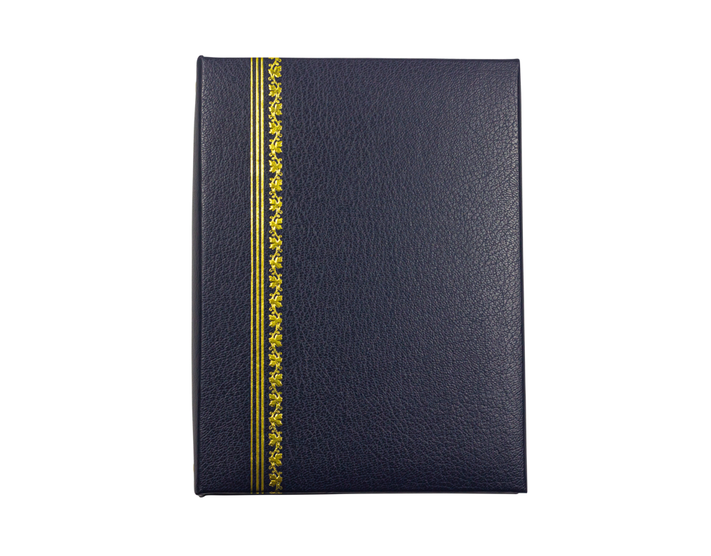 Classic Blue Register Book with Gold Foil Accents