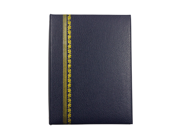Classic Blue Cover with Gold Foil Accents