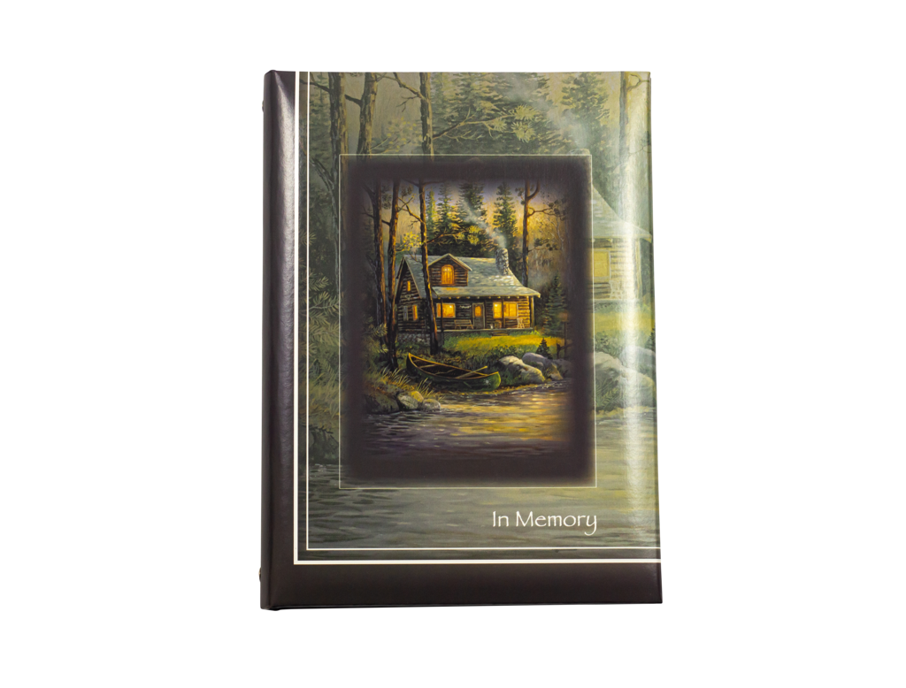 Cabin Retreat Printed Cover Register Book