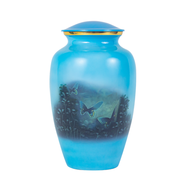 Painted Butterfly Urn