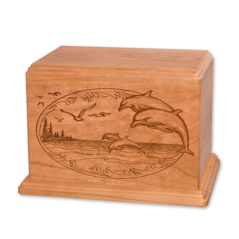 Engraved Dolphins Urn