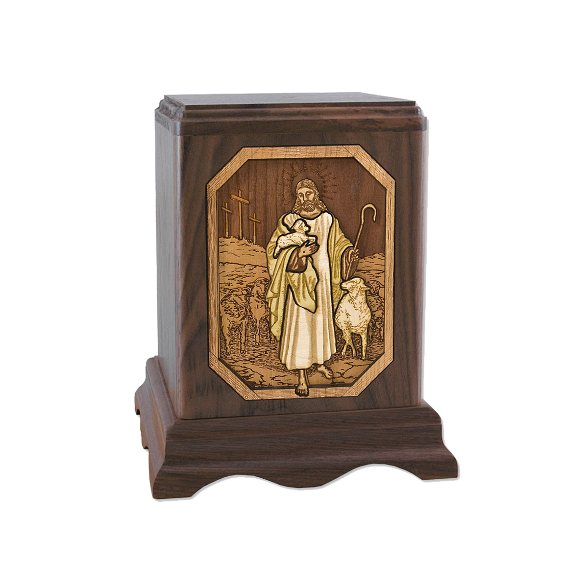 The Lord is my Shepherd 3D Engraved Urn