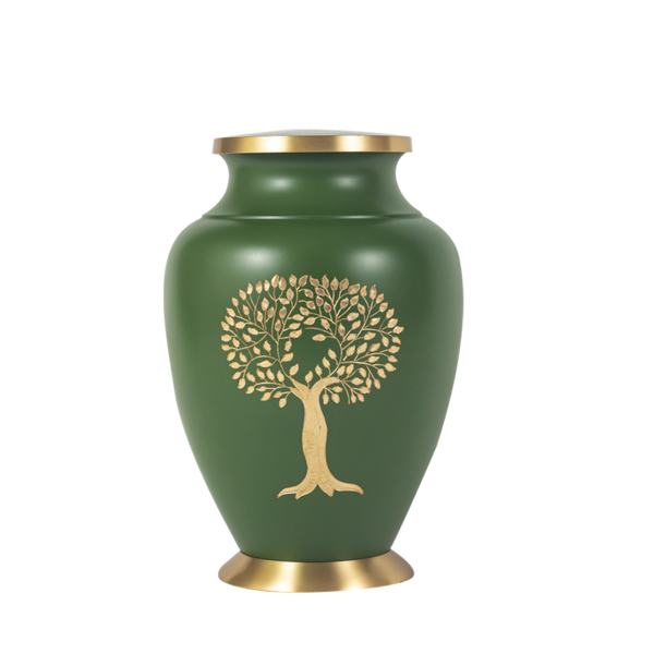 Green Tree of Life Urn