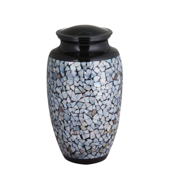 Black with Mother of Pearl Inlay Urn