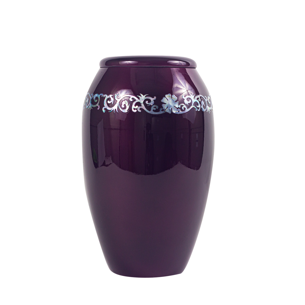 Purple with Mother of Pearl Band Inlay Urn