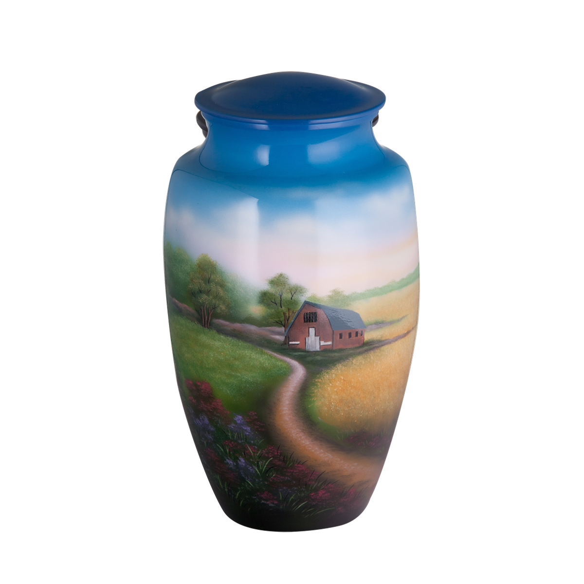 Painted Farm Urn