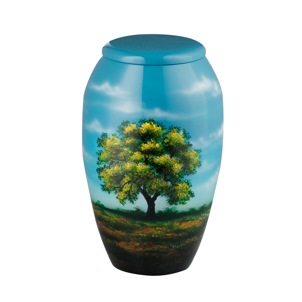 Painted Spring Tree Urn