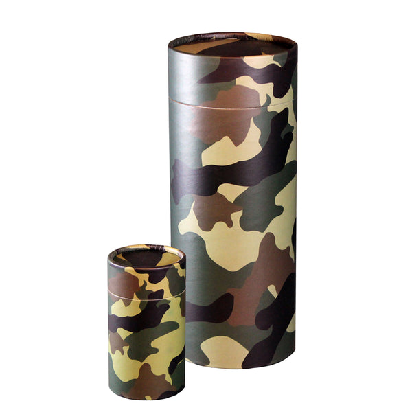 Camouflage Scattering Urn and Keepsake