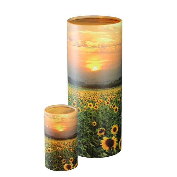 Sunflower Fields Scattering Urn