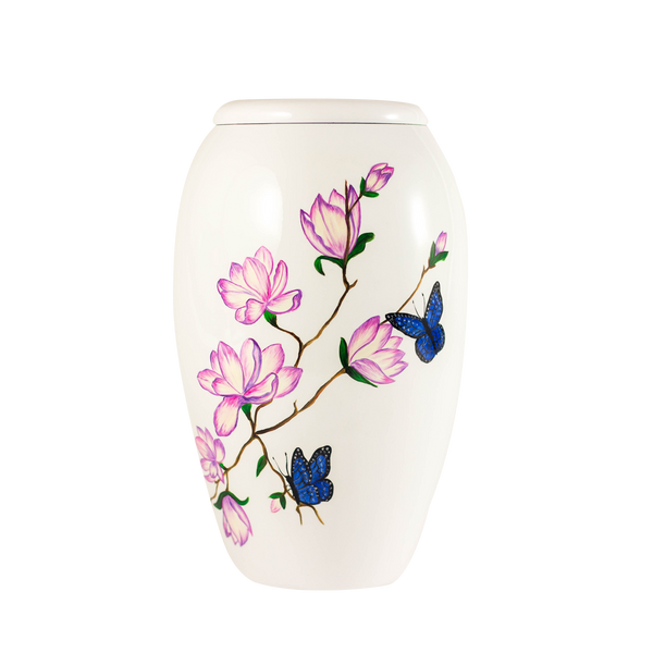 Painted Garden Butterfly Urn