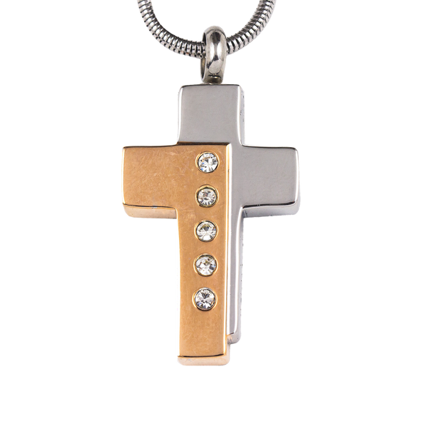 Gold and Silver Cross Stainless Steel Pendant