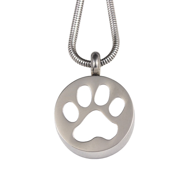 Pet Paw Print Stainless Steel Pendant