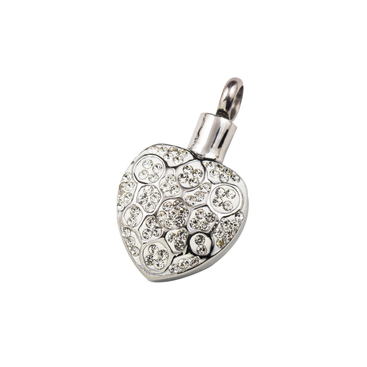 Bedazzled Heart Stainless Steel Penant