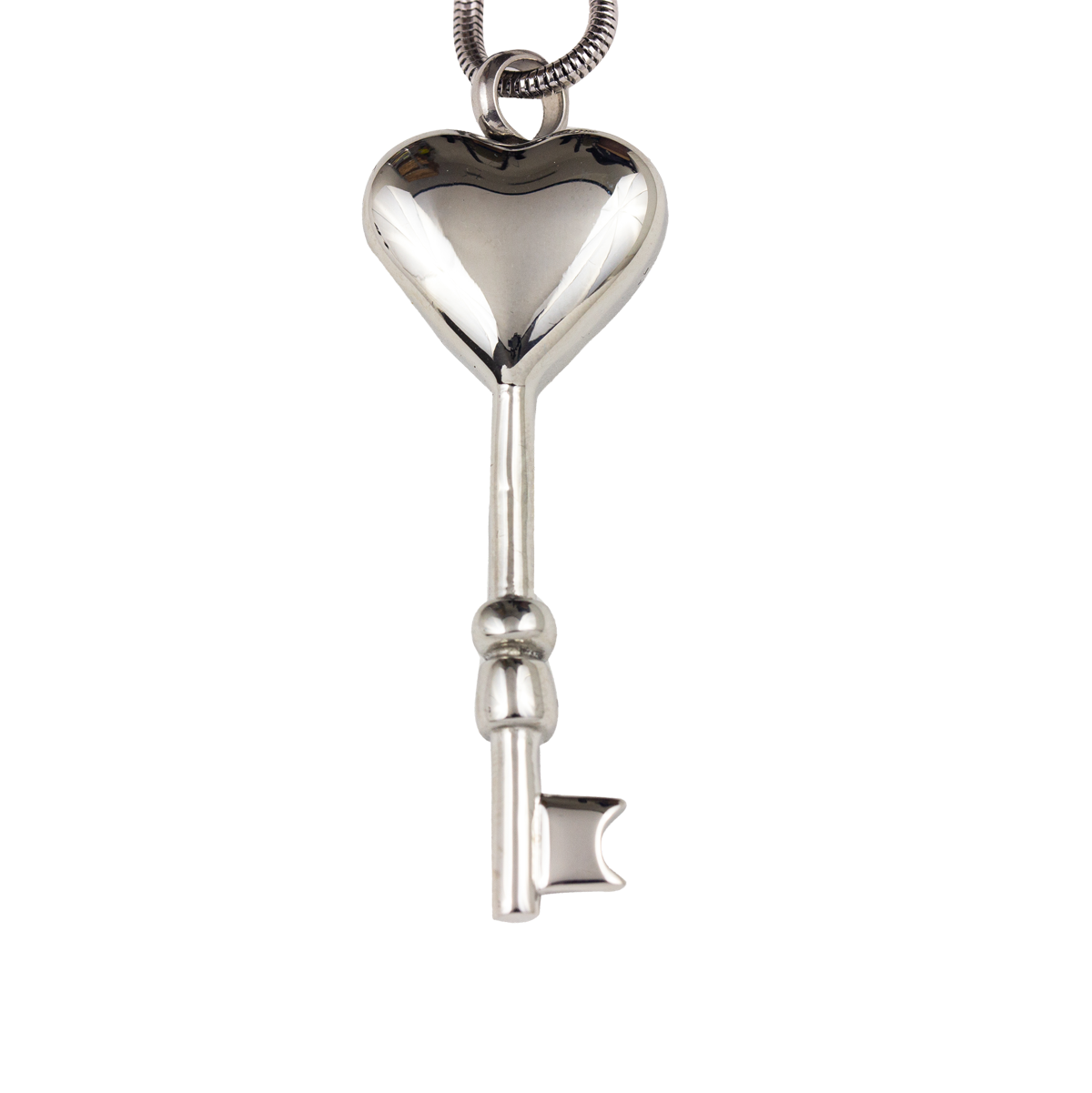 Key To My Heart Stainless Steel Pendant