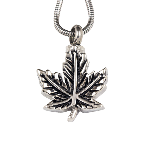 Maple Leaf Stainless Steel Pendant