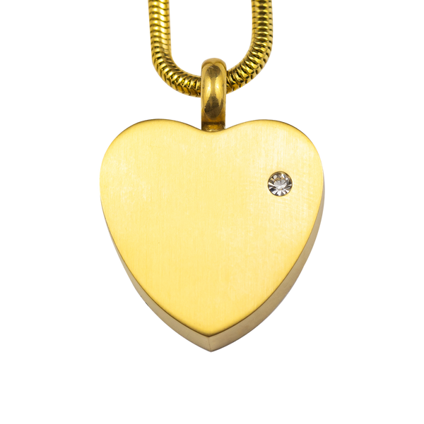 Gold Heart Stainless Steel Pendant