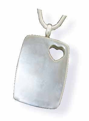 Dog Tag Stainless Steel Pendant with Heart