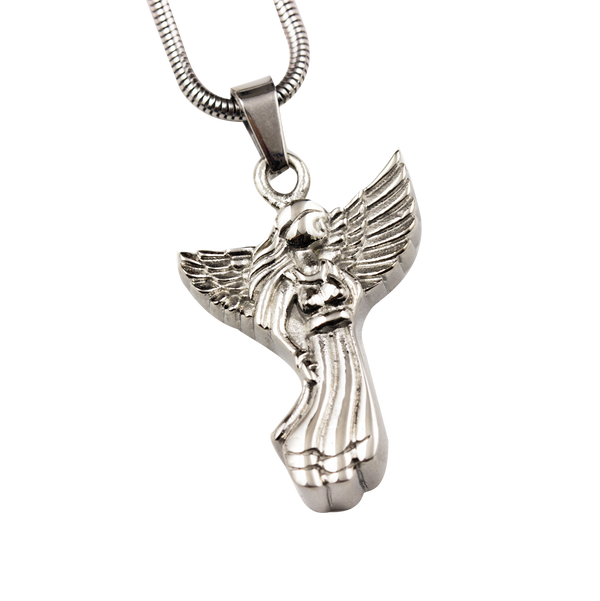 Guardian Angel Stainless Steel Pendant
