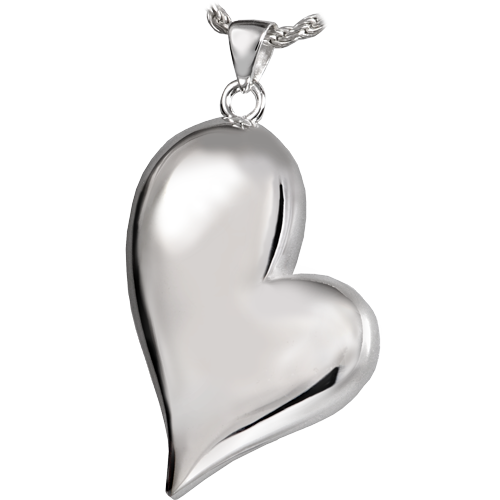 Tear Drop Heart Companion Sterling Silver Pendant