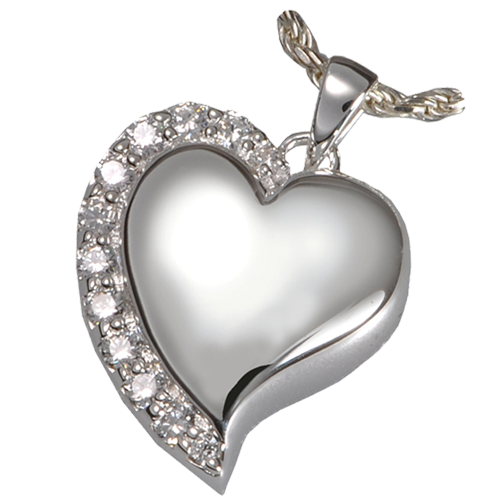 Shine Heart Sterling Silver Pendant