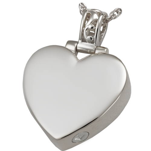 Filligree Bale Heart Sterling Silver Pendant