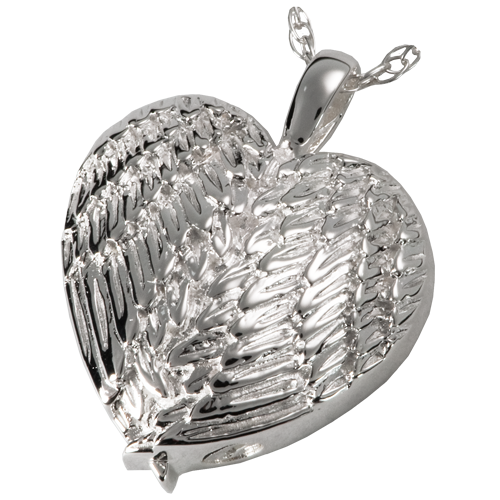 Angel Wing Heart Sterling Silver Pendant