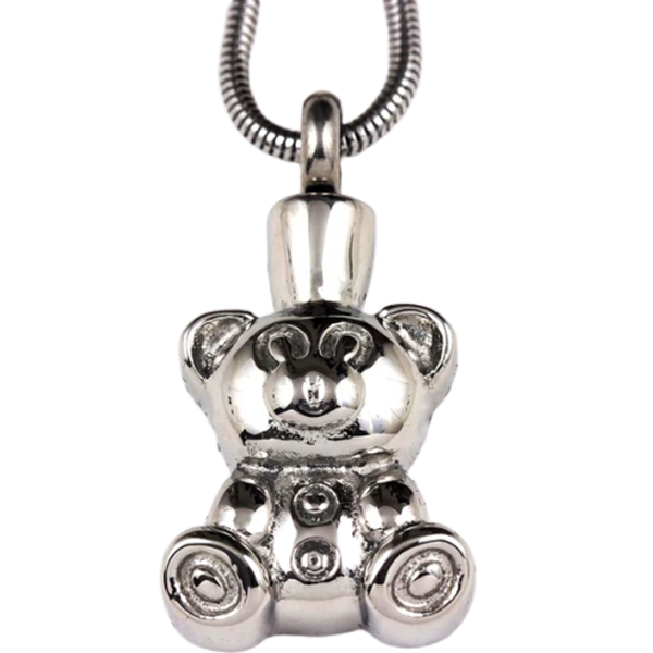 Teddy Bear Stainless Steel Pendant