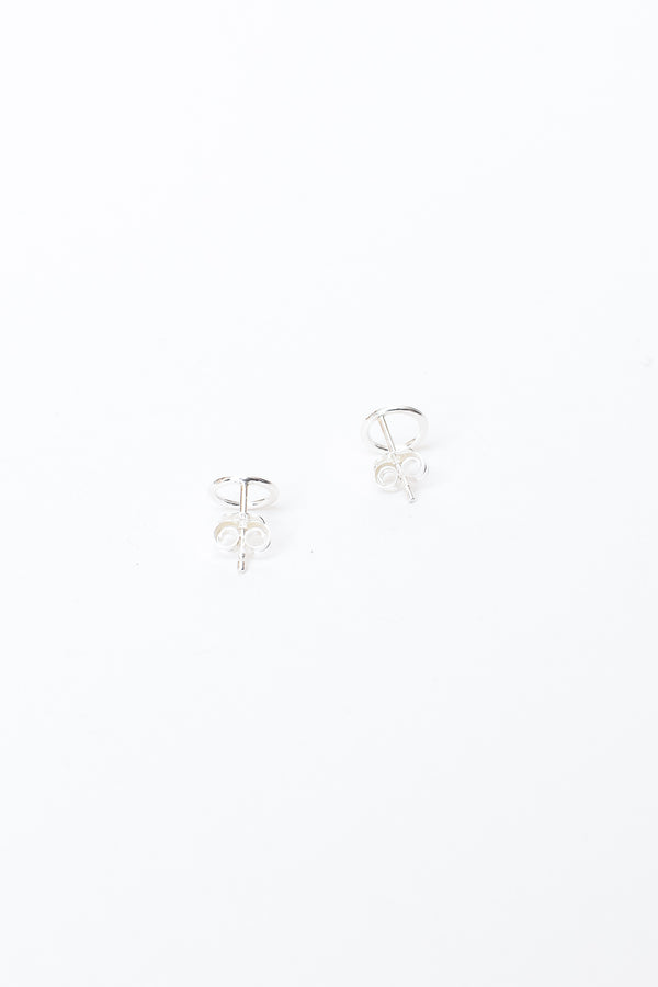 Small Open Circle Studs - Silver