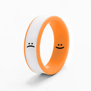 Flip Reversible smile / frown neon orange