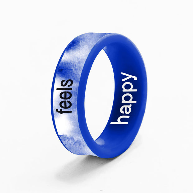 Flip Reversible happy / feels cobalt