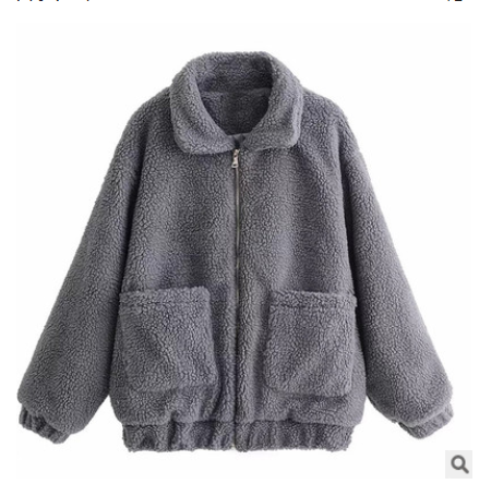 Autumn and winter warm lamb hair pocket cotton coat cotton coat