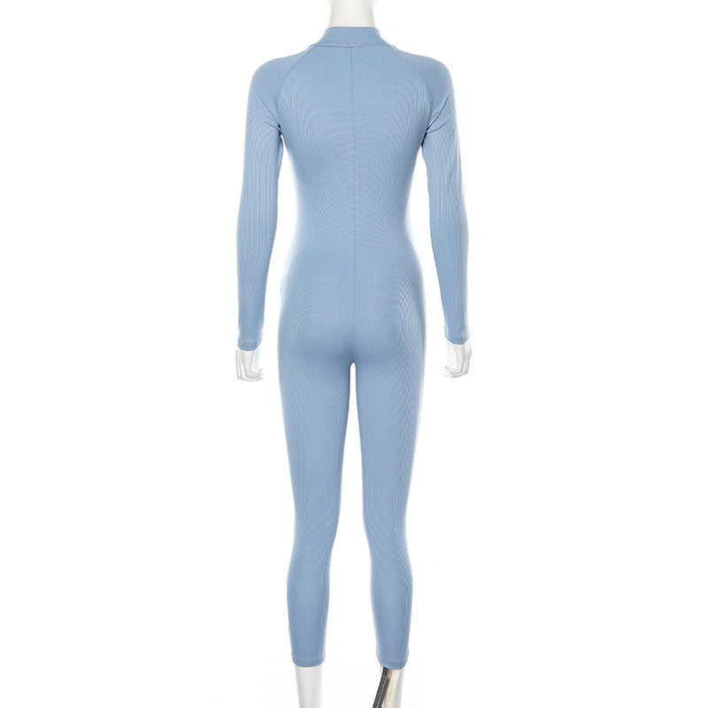 Turtleneck fitness jumpsuit