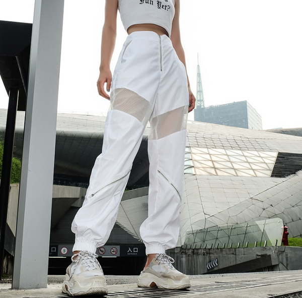sexy zipper hip hop street dance trend casual pants