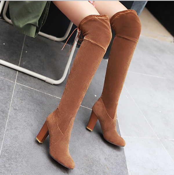 high heel women's boots
