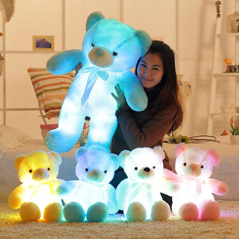 A glow bear with glowing colors