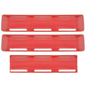 "Madjax Red 24"" Single Row LED Bar Cover Pack (2-Large & 1-Small)"
