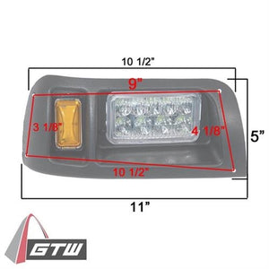 GTW Adjustable LED Light Kit Club Car DS (Years 1993-Up)