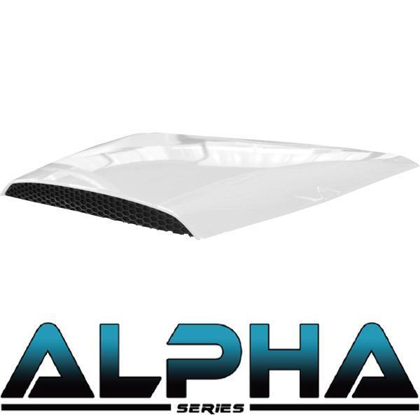 Madjax White Alpha Series Hood Scoop for Precedent