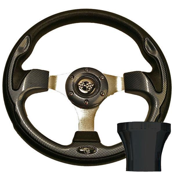GTW STEERING WHEEL KIT, CARBON FIBER/RALLY 12.5 W/BLACK ADAPTER G16-DRIVE2