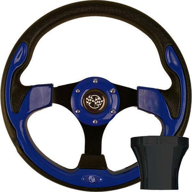 GTW STEERING WHEEL KIT, BLUE/RALLY 12.5 W/BLACK ADAPTER, CC PREC