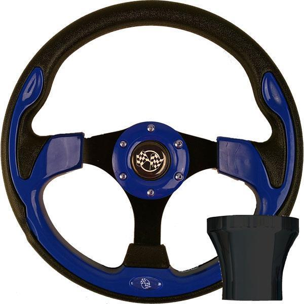 GTW STEERING WHEEL KIT, BLUE/RALLY 12.5 W/BLACK ADAPTER, YAMAHA