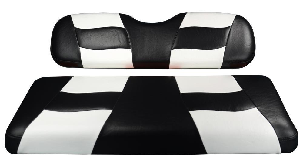 Madjax RIPTIDE FRONT SEAT COVER TXT BLACK/WHITE