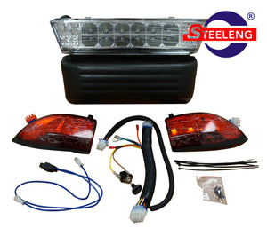 CLUB CAR PRECEDENT 2004-2008 GOLF CART ADJUSTABLE LED HEADLIGHTS / TAIL LIGHTS