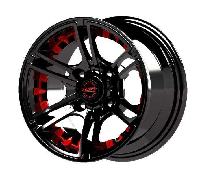 Madjax Red Inserts for Mirage 12x7 Wheel