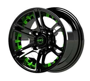 Madjax Green Inserts for Mirage 14x7 Wheel