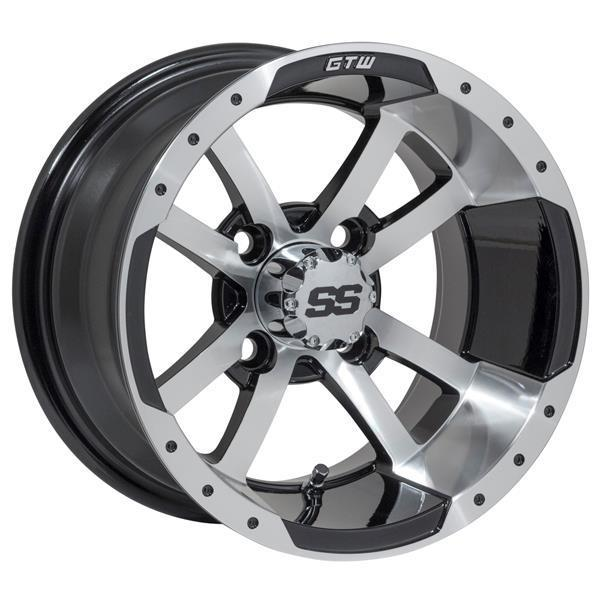GTW GTW Storm Trooper 12x7 Machined Black Wheel