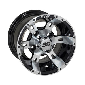 GTW GTW Yellow Jacket 10x7 Machined Black Wheel